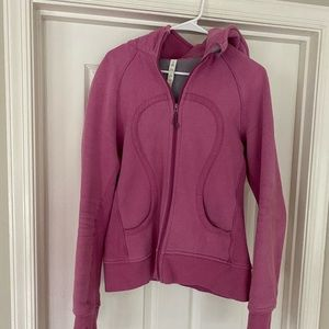 Lululemon pink scuba lined hoodie size 12